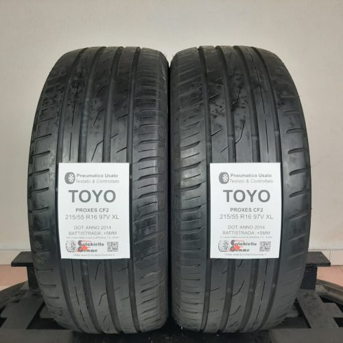215/55 R16 97V XL Toyo Proxes CF2 – 60% +5mm – Gomme Estive