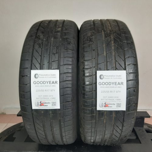 225/55 R17 97Y Goodyear Excellence (RSC) Runflat – 60% +5mm – Gomme Estive