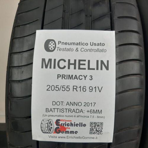 205/55 R16 91V Michelin Primacy 3 – 70% +6mm Gomme Estive