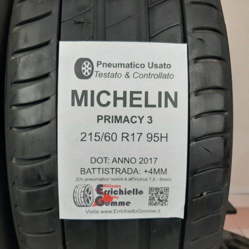 215/60 R17 95H Michelin Primacy 3 – 50% +4mm Gomme Estive