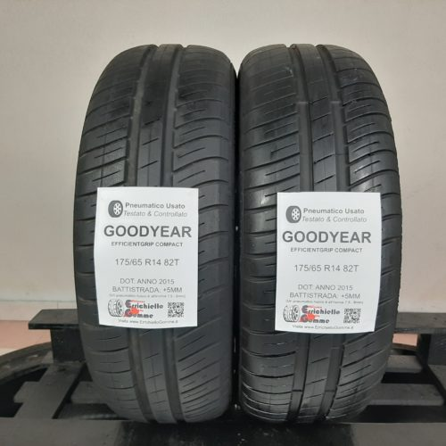 175/65 R14 82T Goodyear EfficientGrip Compact  – 60% +5mm – Gomme Estive