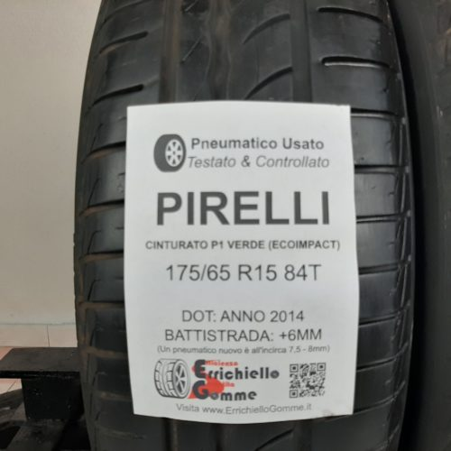 175/65 R15 84T Pirelli Cinturato P1 Verde (EcoImpact)  – 70% +6mm – Gomme Estive