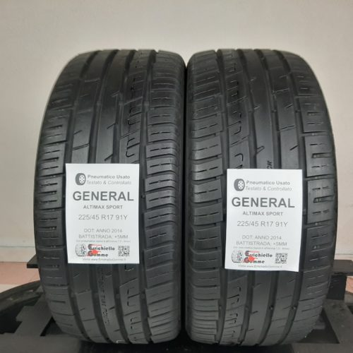 225/45 R17 91Y General Altimax Sport – 60% +5mm – Gomme Estive