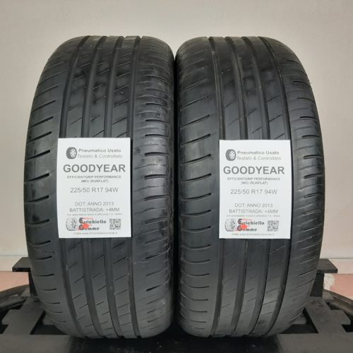 225/50 R17 94W Goodyear EfficientGrip Performance (MO) (Runflat) – 50% +4mm – Gomme Estive