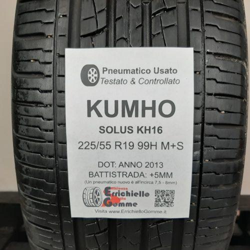 225/55 R19 99H M+S Kumho Solus KH16 – 60% +5mm – Gomma 4 Stagioni