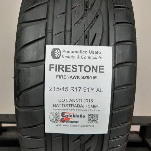 215/45 R17 91Y XL Firestone FireHawk SZ90M – 60% +5mm – Gomma Estiva