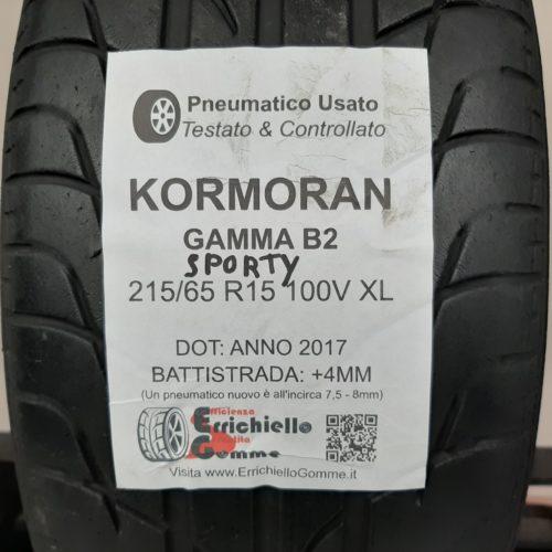 215/65 R15 100V XL Kormoran Gamma B2 Sporty – 50% +4mm – Gomma Estiva