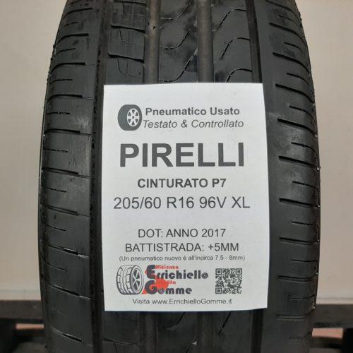 205/60 R16 96V XL Pirelli Cinturato P7 – 60% +5mm Gomma Estiva