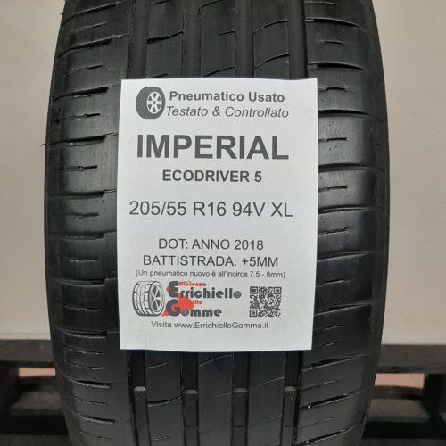 205/55 R16 94V XL Imperial EcoDriver 5 – 60% +5mm – Gomma Estiva