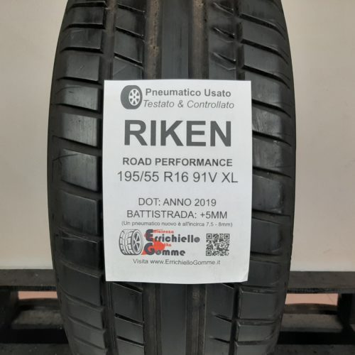 195/55 R16 91V XL Riken Road Performance – 60% +5mm – Gomma Estiva