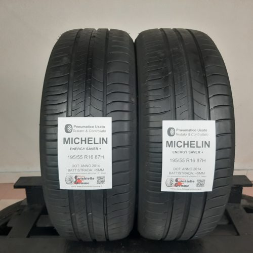 195/55 R16 87H Michelin Energy Saver G1 – 60% +5mm – Gomme Estive