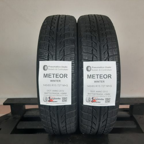 145/65 R15 72T M+S Meteor Winter – 60% +5mm – Gomme Invernali