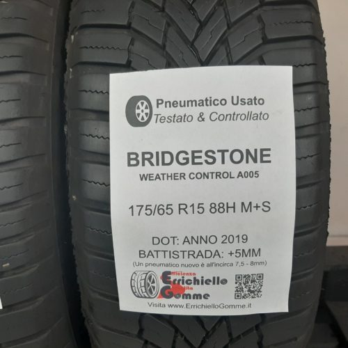 175/65 R15 88H XL Bridgestone Ecopia EP25 – 50% +4mm – Gomme Estive