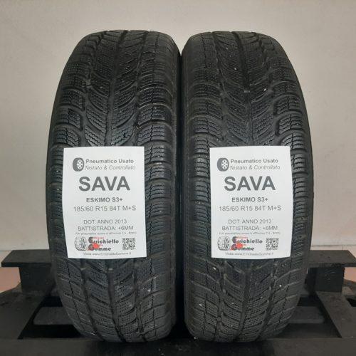 185/60 R15 84T M+S Sava Eskimo S3+ – 70% +6mm – Gomme Invernali