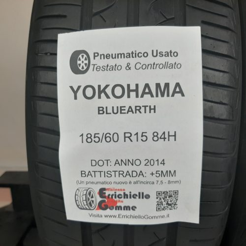 185/60 R15 84H Yokohama Bluearth – 60% +5mm – Gomme Estive
