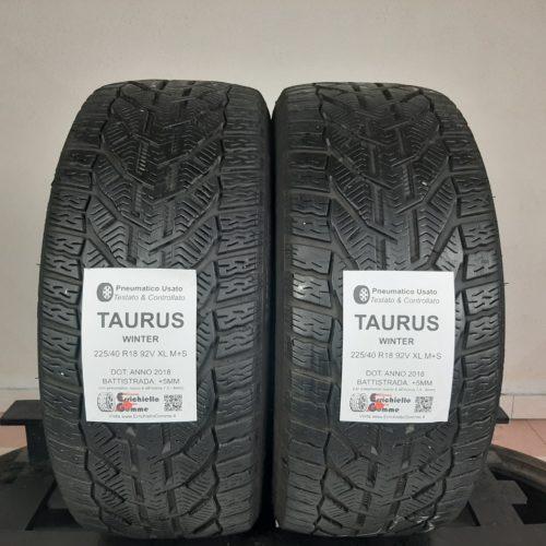 225/40 R18 92V XL M+S Taurus Winter – 60% +5mm Gomme Invernali