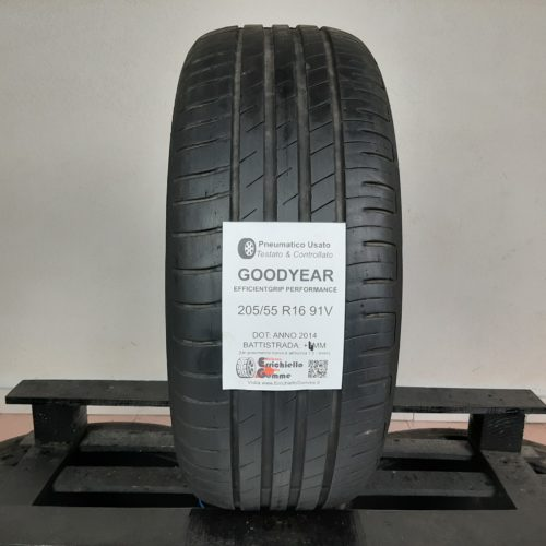 205/55 R16 91V Goodyear EfficientGrip Performance – 60% +5mm Gomma Estiva