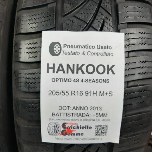 205/55 R16 91H M+S Hankook Optimo 4S 4-Seasons – 60% +5mm – Gomme 4 Stagioni