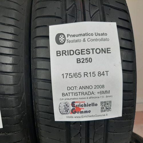 175/65 R15 84T Bridgestone B250 – 80/90% +6/7mm – Gomme Estive