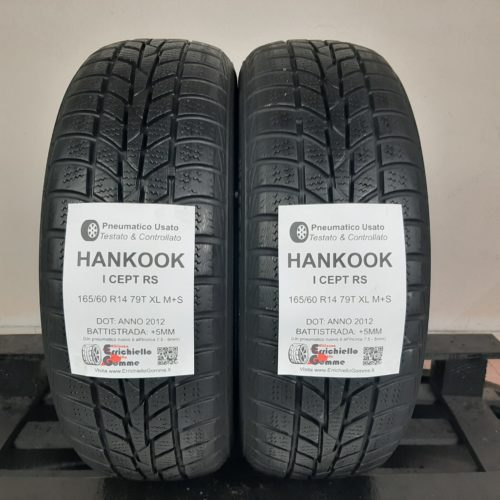 165/60 R14 79T XL M+S Hankook I Cept RS – 60% +5mm – Gomme Invernali