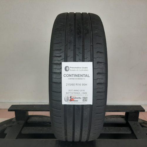 215/60 R16 95H Continental ContiEcoContact 5 – 60% +5mm – Gomma Estiva