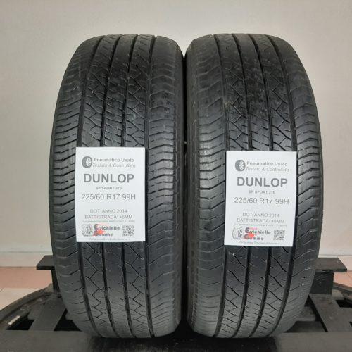 225/60 R17 99H Dunlop SP Sport 270 – 70% +6mm – Gomme Estive