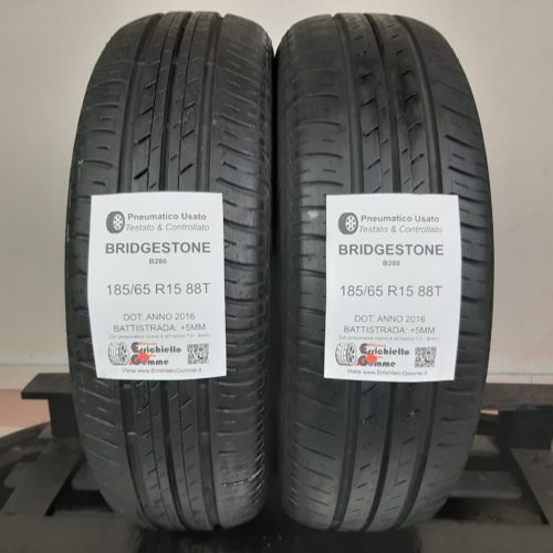 185/65 R15 88T Bridgestone B280 – 60% +5mm – Gomme Estive