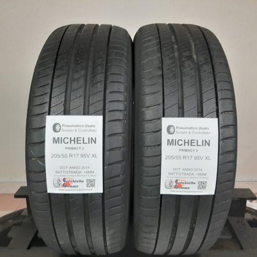 205/55 R17 95V XL Michelin Primacy 3 – 70% +6mm – Gomme Estive