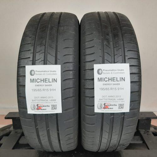 195/65 R15 91H Michelin Energy Saver – 50% +4mm – Gomme Estive