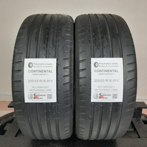 205/55 R16 91V Continental SportContact 2 –   50% +4mm – Gomme Estive