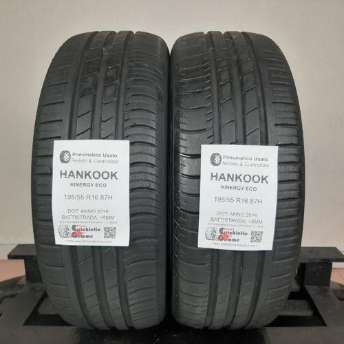 195/55 R16 87H Hankook Kingergy Eco – 60% +5mm – Gomme Estive