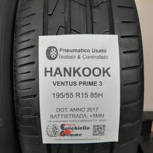 195/55 R15 85H Hankook Ventus Prime 3 – 60% +5mm – Gomme Estive
