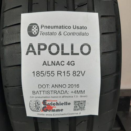185/55 R15 82V Apollo Alnac 4G – 50% +4mm – Gomme Estive