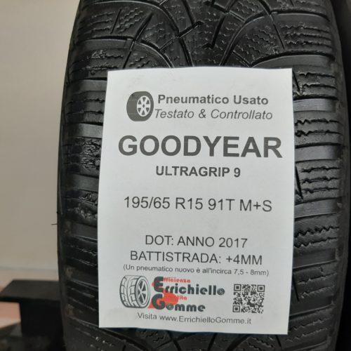 195/65 R15 91T M+S Goodyear UltraGrip 9 – 50% +4mm – Gomme Invernali
