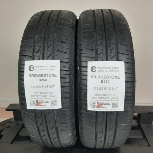 175/65 R15 84T Bridgestone B250  – 60% +5mm – Gomme Estive