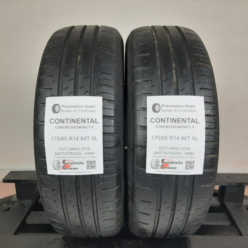 175/65 R14 84T XL Continental ContiEcoContact 5 – 60% +5mm – Gomme Estive