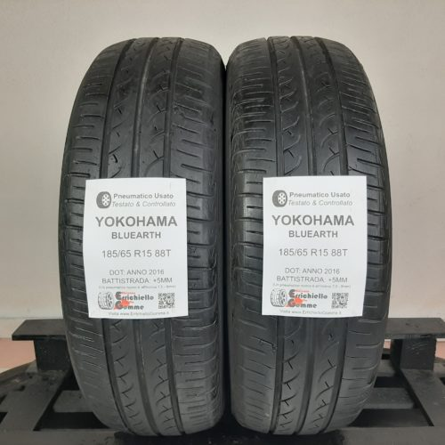 185/65 R15 88T Yokohama Bluearth –  60% +5mm – Gomme Estive