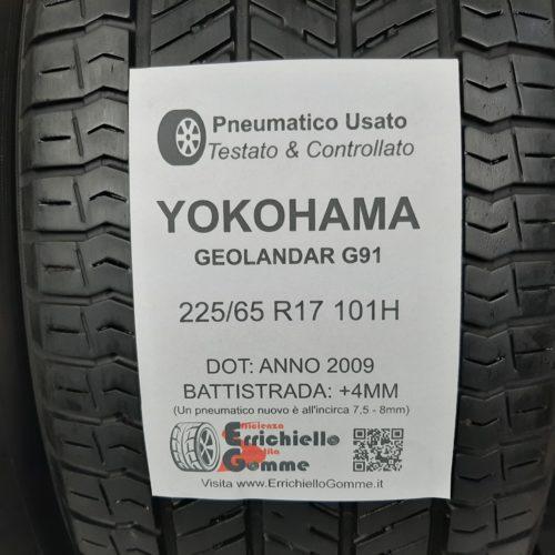 225/65 R17 101H Yokohama Geolandar G91 – 50% +4mm – Gomme Estive