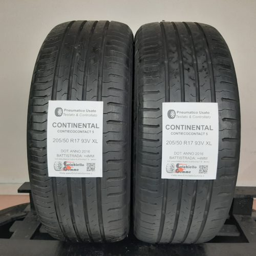 205/50 R17 93V XL Continental ContiEcoContact 5 – 50% +4mm – Gomme Estive
