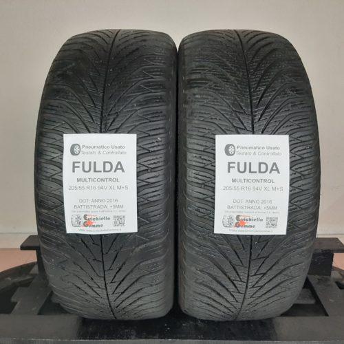 205/55 R16 94V XL Fulda MultiControl – 60% +5mm Gomme 4 Stagioni