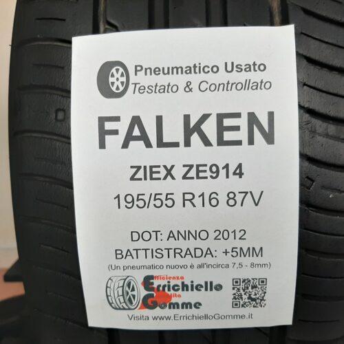 195/55 R16 87V Falken Ziex ZE914 – 60% +5mm – Gomme Estive