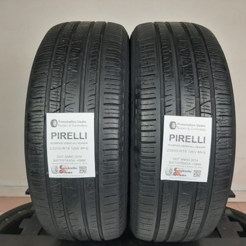 235/55 R19 105V M+S Pirelli Scorpion Verde All Season – 60% +5mm – Gomme 4 Stagioni
