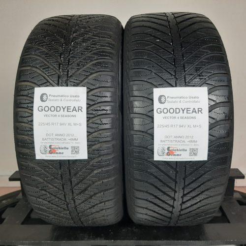 225/45 R17 94V XL M+S Goodyear Vector 4 Seasons – 70% +6mm – Gomme 4 Stagioni