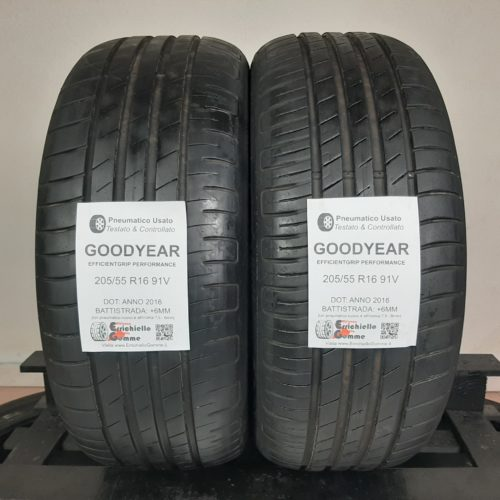 205/55 R16 91V Goodyear EfficientGrip Performance –  70% +6mm Gomme Estive