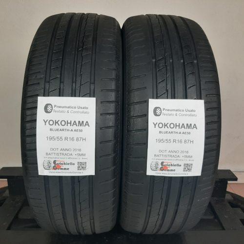 195/55 R16 87H Yokohama BluEarth-A AE50 – 60% +5mm – Gomme Estive