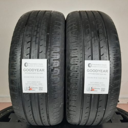 255/60 R18 112V M+S Goodyear EfficientGrip SUV 4×4 – 60% +5mm – Gomme 4 Stagioni