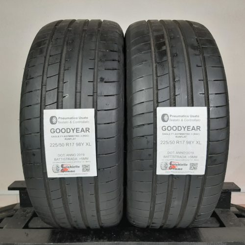 225/50 R17 98Y XL Goodyear Eagle F1 Asymmetric 3 (RSC) Runflat – 60% +5mm Gomme Estive