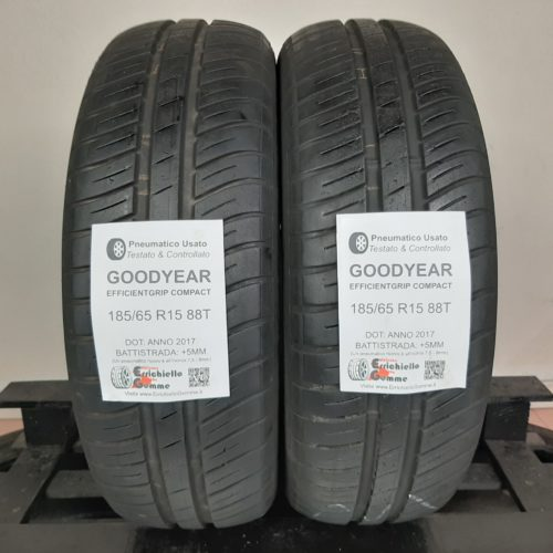 185/65 R15 88T Goodyear EfficientGrip Compact – 60% +5mm – Gomme Estive