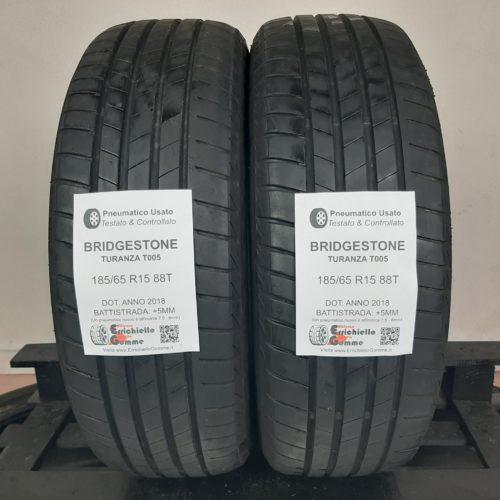 185/65 R15 88T Bridgestone Turanza T005 – 60% +5mm Gomme Estive