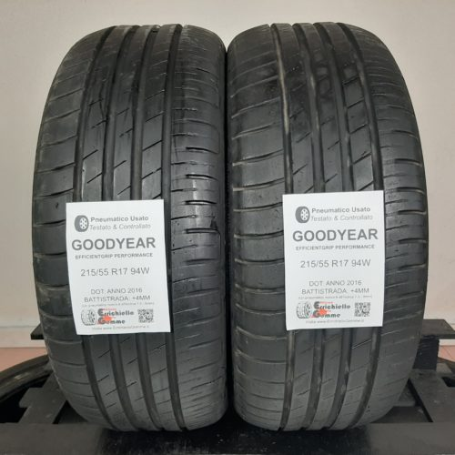 215/55 R17 94W Goodyear EfficientGrip Performance –  50% +4mm Gomme Estive
